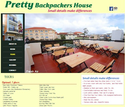 Pretty Backpackers House